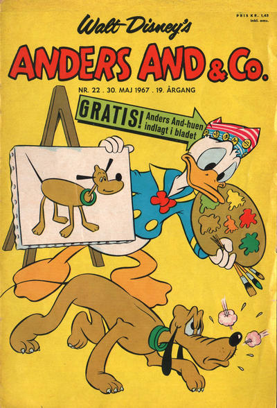 Cover for Anders And & Co. (Egmont, 1949 series) #22/1967