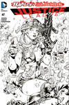 Cover Thumbnail for Justice League (2011 series) #47 [Harley's Little Black Book Jim Lee Black and White Variant]