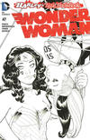 Cover for Wonder Woman (DC, 2011 series) #47 [Harley Quinn Little Black Book Amanda Conner Black and White Cover]