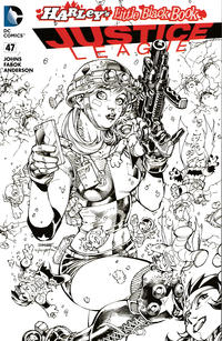 Cover Thumbnail for Justice League (DC, 2011 series) #47 [Harley's Little Black Book Jim Lee Black and White Variant]