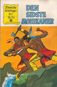 Cover Thumbnail for Klassiske fortællinger (Interpresse, 1979 series) #3 - Den sidste Mohikaner