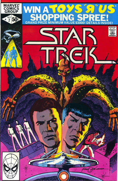 Cover for Star Trek (Marvel, 1980 series) #7 [Newsstand]