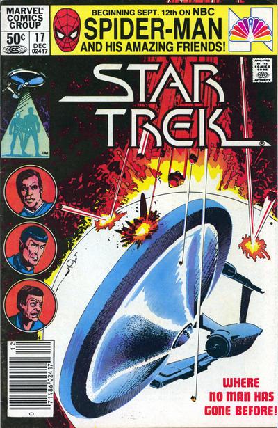 Cover for Star Trek (Marvel, 1980 series) #17 [Newsstand]