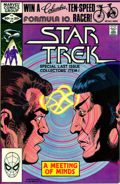 Cover for Star Trek (Marvel, 1980 series) #18 [Newsstand]