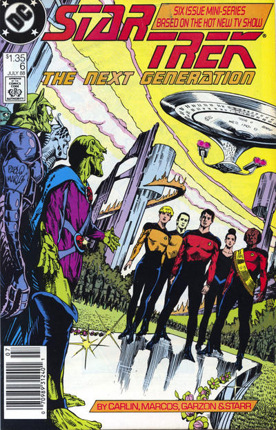 Cover for Star Trek: The Next Generation (DC, 1988 series) #6 [Canadian Newsstand]