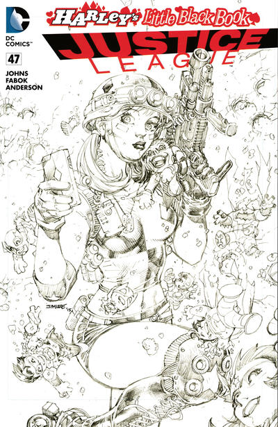 Cover for Justice League (DC, 2011 series) #47 [Harley's Little Black Book Jim Lee Sketch Variant]