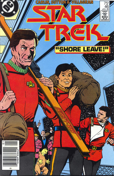 Cover for Star Trek (DC, 1984 series) #46 [Direct]