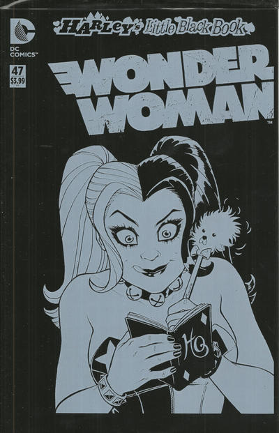 Cover for Wonder Woman (DC, 2011 series) #47 [Harley Quinn Little Black Book Amanda Conner Sketch Variant]
