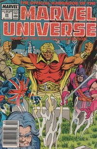 Cover Thumbnail for The Official Handbook of the Marvel Universe (Marvel, 1985 series) #20 [Newsstand]
