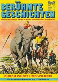 Cover Thumbnail for Bastei Sonderband (Bastei Verlag, 1970 series) #20 - Durch die Wüste und Wildnis
