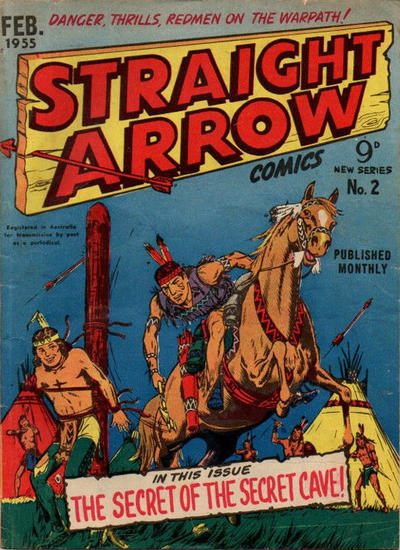 Cover for Straight Arrow Comics (Magazine Management, 1955 series) #2