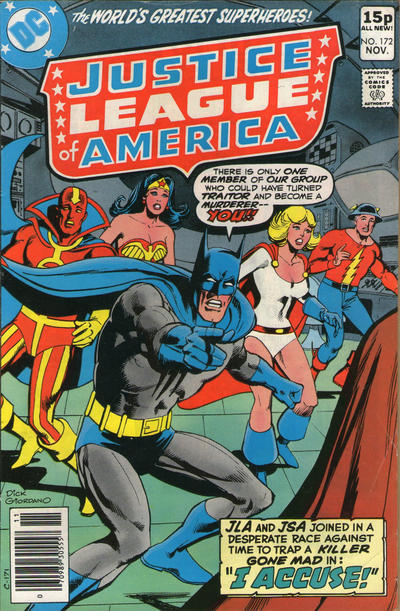 Cover for Justice League of America (DC, 1960 series) #172 [Regular Edition]