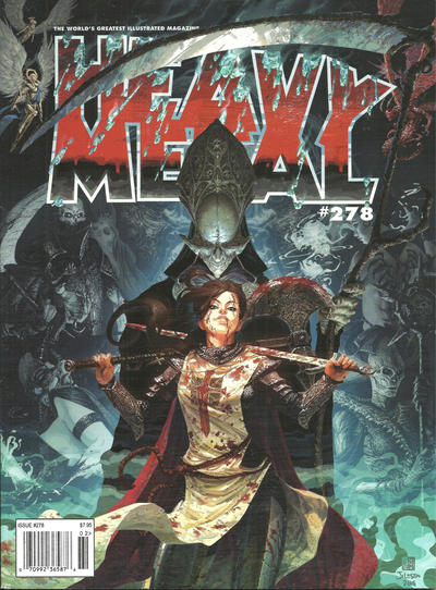 Cover for Heavy Metal Magazine (Heavy Metal, 1977 series) #278 [Tom Jilesen Newsstand/Comic Shop Cover]