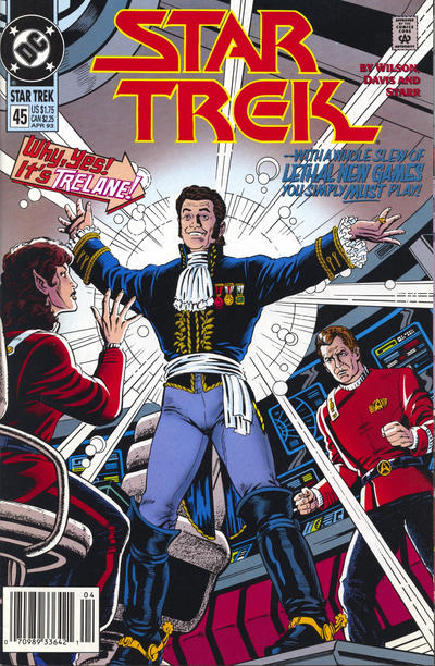 Cover for Star Trek (DC, 1989 series) #45 [Direct]