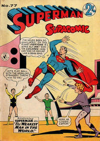 Cover Thumbnail for Superman Supacomic (K. G. Murray, 1959 series) #77