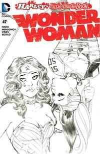 Cover Thumbnail for Wonder Woman (DC, 2011 series) #47 [Harley Quinn Little Black Book Amanda Conner Sketch Variant]