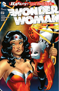 Cover for Wonder Woman (DC, 2011 series) #47 [Harley Quinn Little Black Book Amanda Conner Sketch Variant]