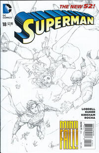 Cover Thumbnail for Superman (DC, 2011 series) #18 [Kenneth Rocafort Sketch Cover]
