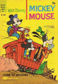 Cover Thumbnail for Walt Disney's Mickey Mouse (W. G. Publications; Wogan Publications, 1956 series) #203