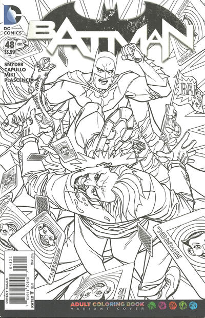 Cover for Batman (DC, 2011 series) #48 [Adult Coloring Book Cover]