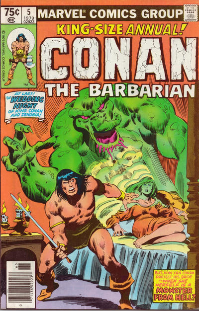 Cover for Conan Annual (Marvel, 1973 series) #5 [Direct Edition]