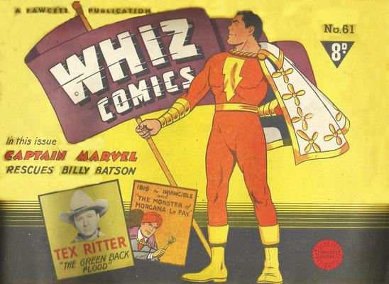 Cover for Whiz Comics (Cleland, 1946 series) #61