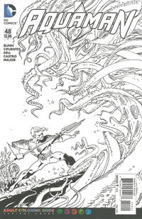 Cover Thumbnail for Aquaman (DC, 2011 series) #48 [Adult Coloring Book Cover]