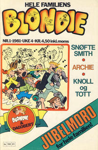Cover Thumbnail for Blondie (Semic, 1980 series) #1/1981