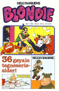 Cover Thumbnail for Blondie (Semic, 1980 series) #7/1981