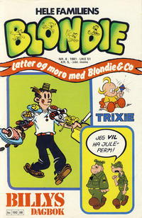 Cover Thumbnail for Blondie (Semic, 1980 series) #8/1981