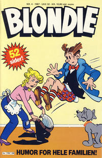 Cover Thumbnail for Blondie (Semic, 1980 series) #4/1987