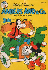 Cover Thumbnail for Anders And & Co. (Egmont, 1949 series) #31/1981