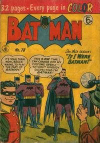 Cover Thumbnail for Batman (K. G. Murray, 1950 series) #78