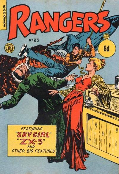Cover for Rangers Comics (H. John Edwards, 1950 ? series) #23 [8d]