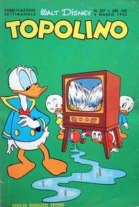 Cover Thumbnail for Topolino (Arnoldo Mondadori Editore, 1949 series) #327