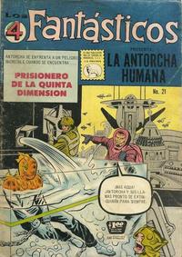 Cover Thumbnail for Los 4 Fantásticos (Editora de Periódicos La Prensa S.C.L., 1962 series) #21