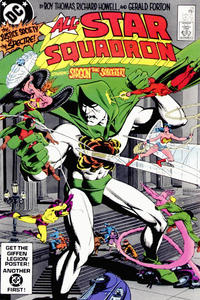 Cover for All-Star Squadron (DC, 1981 series) #28 [Direct-Sales]