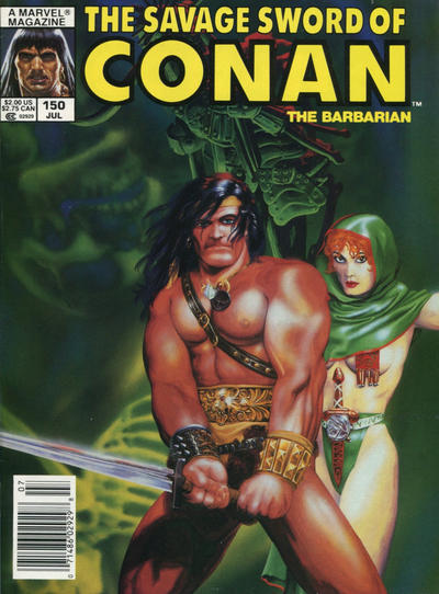 Cover for The Savage Sword of Conan (Marvel, 1974 series) #150 [Direct Edition]