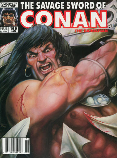 Cover for The Savage Sword of Conan (Marvel, 1974 series) #169