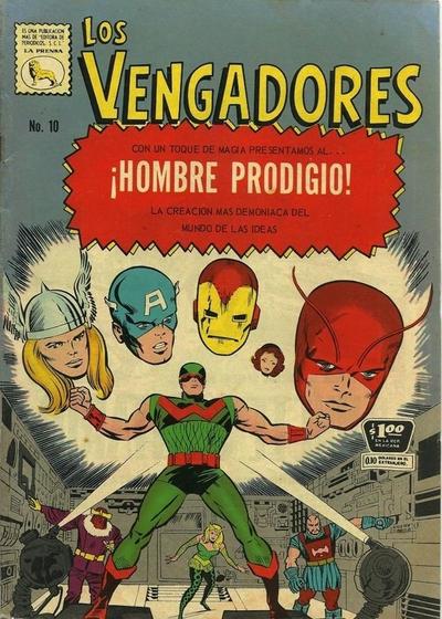 Cover for Los Vengadores (Editora de Periódicos La Prensa S.C.L., 1965 series) #10