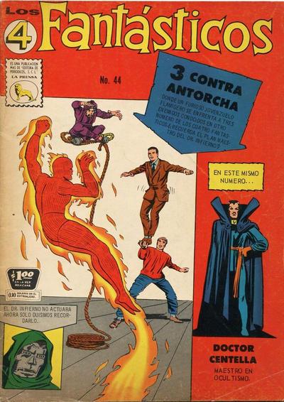 Cover for Los 4 Fantásticos (Editora de Periódicos La Prensa S.C.L., 1962 series) #44