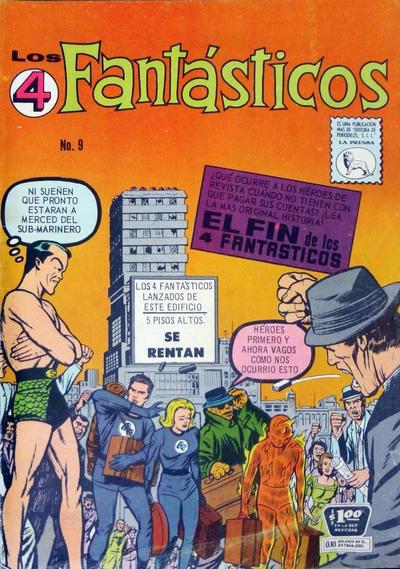 Cover for Los 4 Fantásticos (Editora de Periódicos La Prensa S.C.L., 1962 series) #9