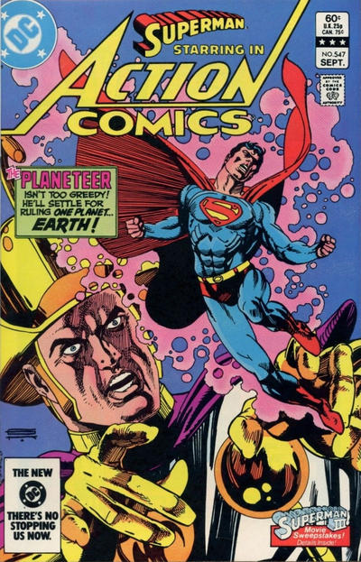 Cover for Action Comics (DC, 1938 series) #547 [Direct-Sales]