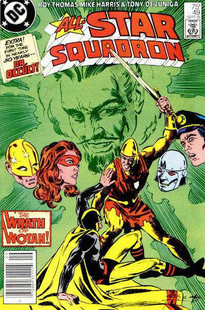 Cover for All-Star Squadron (DC, 1981 series) #49 [Direct Sales]