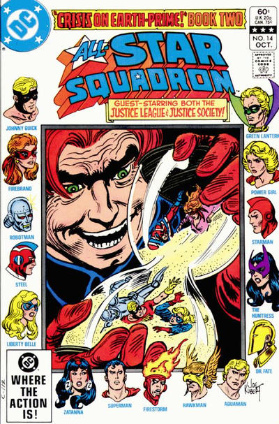 Cover for All-Star Squadron (DC, 1981 series) #14 [Direct Sales]