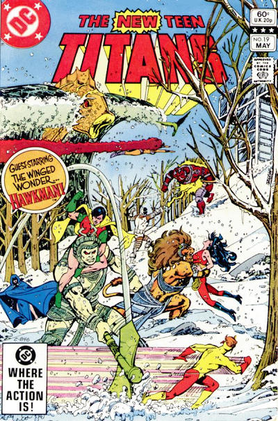 Cover for The New Teen Titans (DC, 1980 series) #19 [Newsstand]