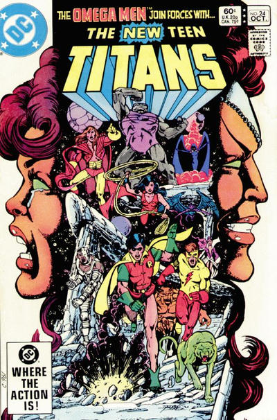 Cover for The New Teen Titans (DC, 1980 series) #24 [Direct]