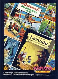 Cover Thumbnail for Tegneseriebokklubben (Hjemmet / Egmont, 1985 series) #[17] - 5 på eventyr: Stålbaronens slott; Lovinda: Krokodillens hemmelighet
