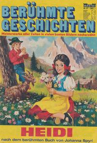 Cover Thumbnail for Bastei Sonderband (Bastei Verlag, 1970 series) #37 - Heidi