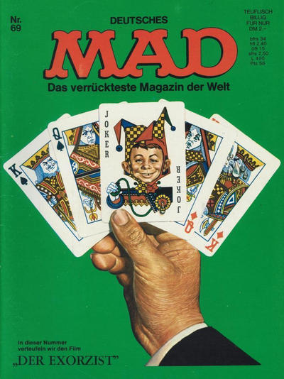 Cover for Mad (BSV - Williams, 1967 series) #69